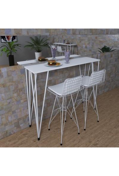 Knsz Bar Masa Sandalye Takımı Zel Byzbyz 100*040 Sm 2 Sandalye Byzbyzsm