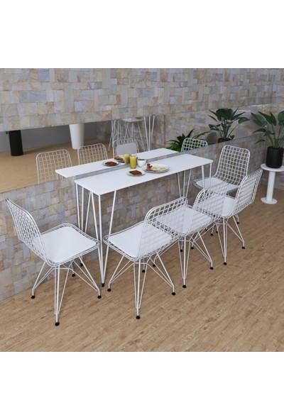 Knsz Masa Sandalye Takımı Huve Byzbyz 160*040 5 Sandalye Byzbyz