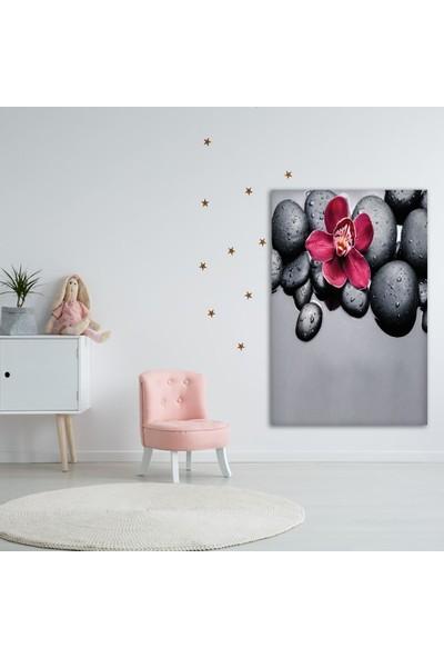 Henge Spa Taşı Kırmız Orkide Duvar Perdesi - Duvar Örtüsü