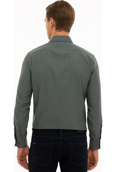 Pierre Cardin Erkek Haki Slim Fit Gömlek 50233542-Vr027