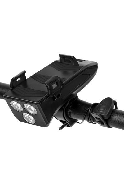 West Biking Çok İşlevli 4 1 Bisiklet Işık 400 Lümen Bisiklet Feneri