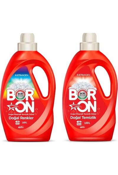 Boron Doğal Temizlik +Doğal Renkler Sıvı Deterjan 1,69 Lt 2 x 26 Yıkama