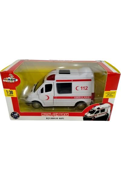 Kembay Oyuncak Metal Çek Bırak Ambulans Arabası