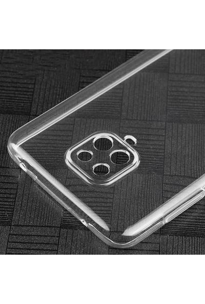 Etech Xiaomi Redmi Note 9 Pro Şeffaf Kamera Korumalı Silikon Kılıf