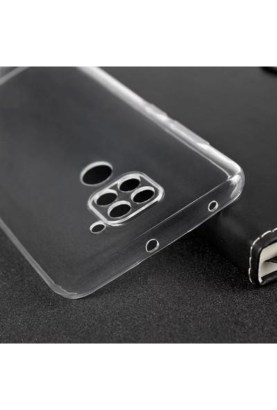Etech Xiaomi Redmi Note 9 Şeffaf Kamera Korumalı Silikon Kılıf