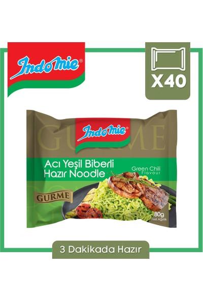 Indomie Gurme Serisi Acı Yeşil Biberli Hazır Noodle 80 gr