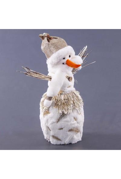Euro Flora Yılbaşı Kardan Adam Beyaz 24X14X38 cm