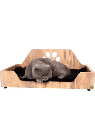 Can Amca Ahşap Kedi & Köpek Yatağı