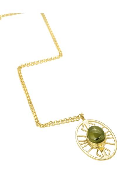 Amulette Jewel Kadın Gold Olive Gümüş Kolye