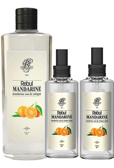 Rebul Kolonya Mandarıne Özel Set Mandarine 270 ml + Rebul Mandarıne 50 ml 2 Adet