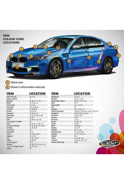 Color N Drive Ford İçin Rötüş Boyası 3 / XSC1691B1691C Caspian Blue Met Taş İzi ve Çizik Giderici Set Basic