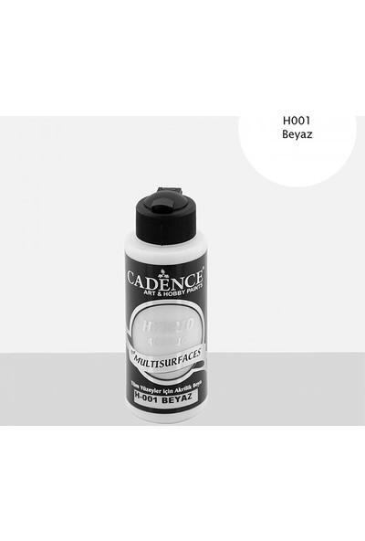 Cadence Tüm Yüzeyler Için Akrilik Boya H-001 Beyaz 120 ml