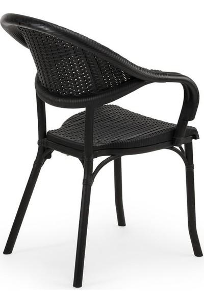 Bintaş Mobilya Plastik Rattan Masa Sandalye Takımı