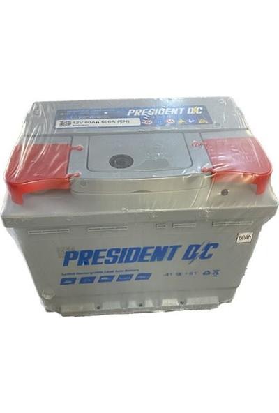 President 12 V 60 Ah President Akü 2 Yıl Petlas Garantili 60 Amper Akü Üretim Tarihi 2021