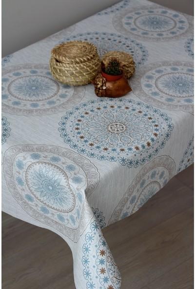 Dede Ev Tekstil Astarlı Silinebilir Leke Tutmaz Pvc Muşamba Masa Örtüsü 06-Cb