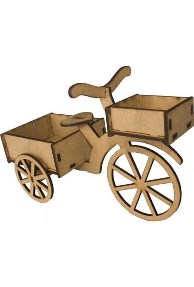 Joy And Toys Ahşap Bisiklet Ham Ahşap Oyuncak Hobi Boyama Seti 19 x 15 x 9 cm