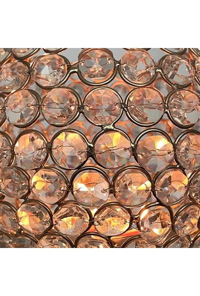 Alesta Home Yuvarlak Kristal Cam Şamdan Mumluk 55CM