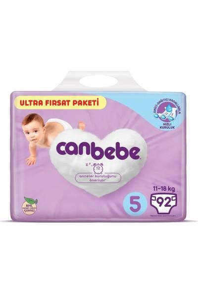 Canbebe Bebek Bezi 5 Beden 11-18 kg 92'li Ultra Fırsat Paketi