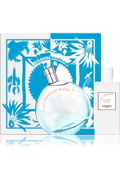 Hermes Eau Des Merveilles Bleue Edt 100 ml + Body Lotion 80 ml