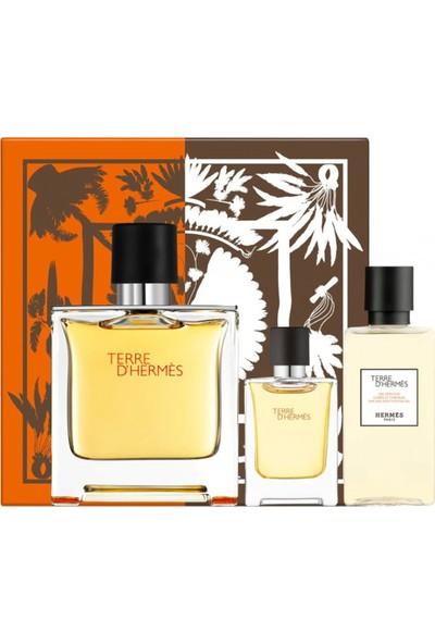 Hermes Terre D'hermes Pure Parfum Edp 75 ml + Mini 5 ml + Shower Gel 40 ml