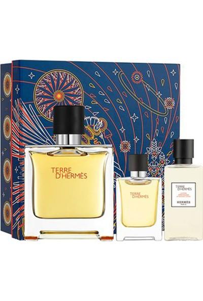 Hermes Terre D'hermes Pure Parfum Edp 75 ml + Mini 12,5 ml + After Shave Lotion 40 ml