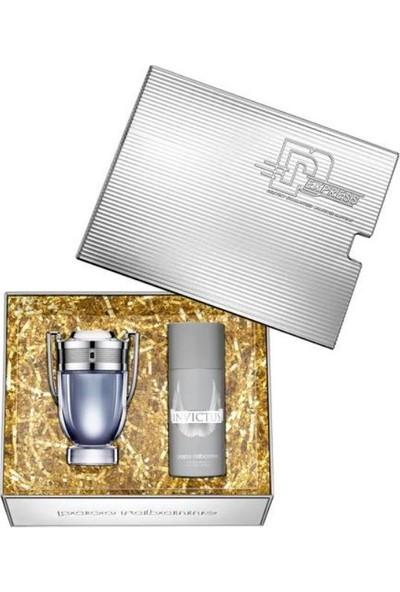 Paco Rabanne Invictus Edt 100 ml + Deodorant 150 ml
