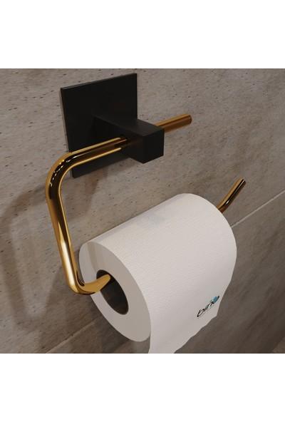 Bino Gold Paslanmaz Çelik Wc Kağıtlık, Tuvalet Kağıtlığı, Tuvalet Kağıdı Askısı,yapışkanlı Tasarım