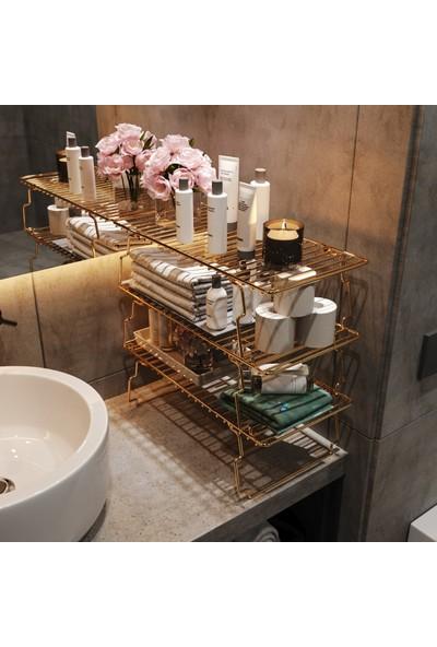 Bino Dolap Içi Raf Düzenleyici Organizer Mutfak Rafı Banyo Rafı