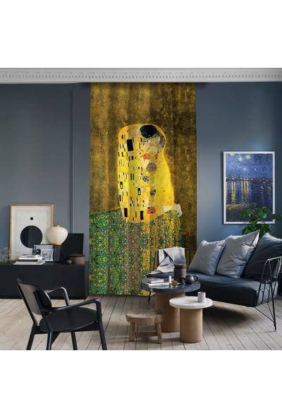 Cipcici Gustav Klimt Öpücük Blackout Perde