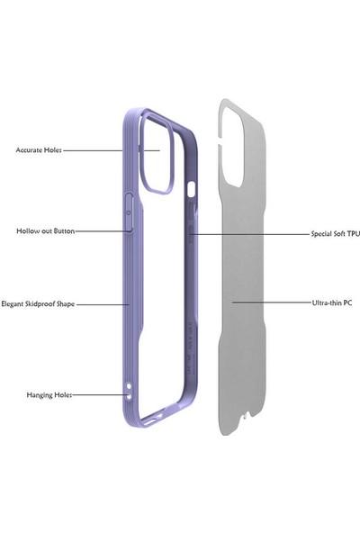 Vendas Apple iPhone 12 Pro Farfe Serisi Renkli Kenarlı Silikon Kılıf Yeşil