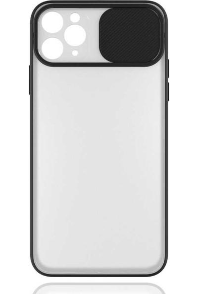 Vendas Apple iPhone 11 Pro Max Sara Serisi Kamera Korumalı Kılıf Siyah