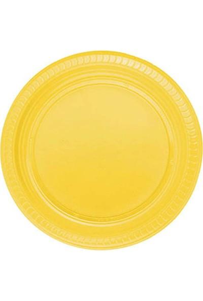Roll-Up Sarı Plastik Tabak 22 cm 25'li