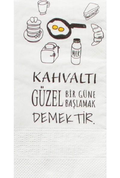 Napkin Store Baskılı Peçete Kahvaltı Sunum 33 x 33 cm 24'lü