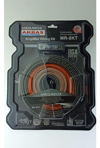 Megavox 8 Ga Kalın Full + Full Anfi Set Kablo