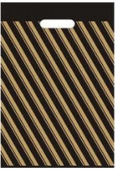 İhtiyaç Limanı Takviyeli Çizgili 50 x 60 cm No:5 El Geçmeli Poşet