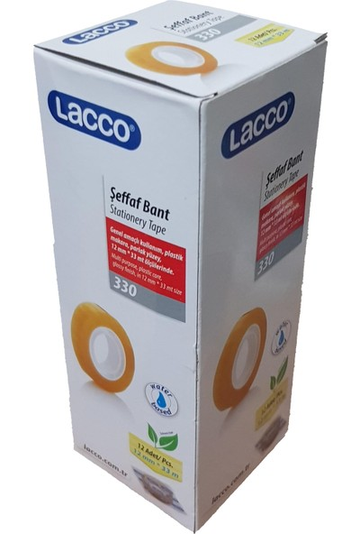 Lacco 330 Büro Bandı 12 mm x 33 m 12'li Paket