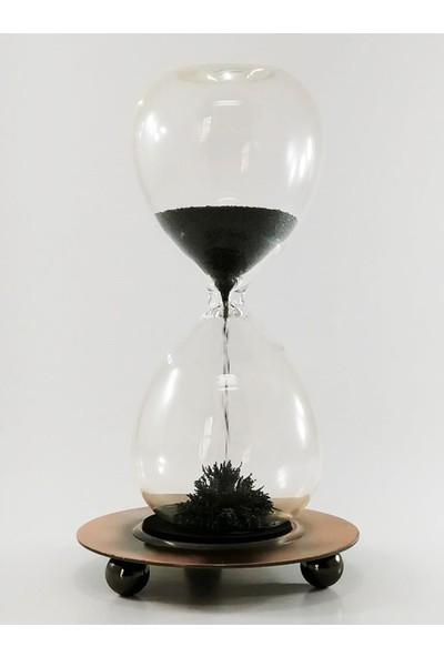 Sume Metal Manyetik Standlı Mıknatıslı Cam Kum Saati
