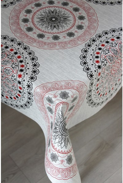 Dede Ev Tekstil Astarlı Silinebilir Pvc Leke Tutmaz Muşamba Masa Örtüsü 06-A1