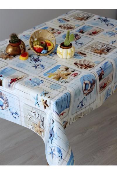 Dede Ev Tekstil Astarlı Silinebilir Pvc Leke Tutmaz Muşamba Masa Örtüsü 1011-1