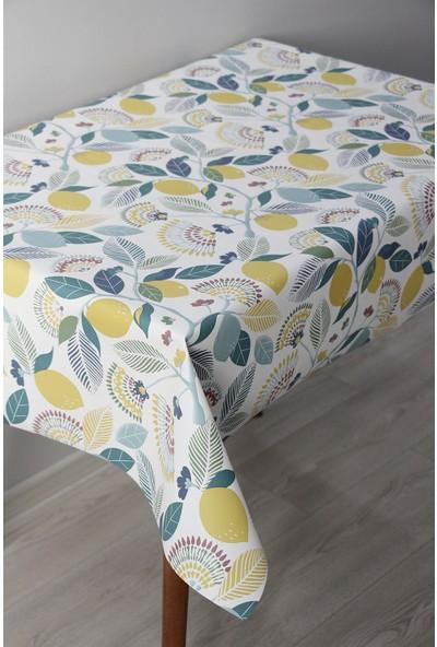 Dede Ev Tekstil Astarlı Silinebilir Pvc Leke Tutmaz Muşamba Masa Örtüsü 8096-1L