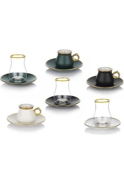 Schafer Matt 18 Parça Çay ve Kahve Fincan Takımı
