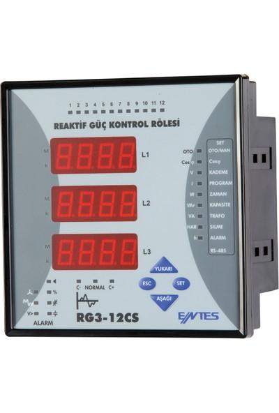 Entes ENT-RG3-12CS Reaktif Güç Kontrol Rölesi 12CS