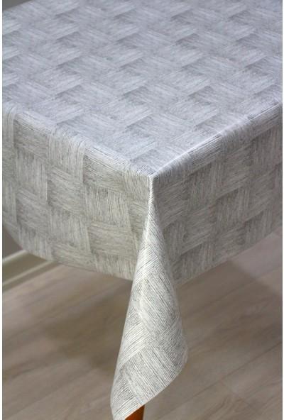 Dede Ev Tekstil Elyaf Astarlı Silinebilir Muşamba Masa Örtüsü Kare Hasır 112-B