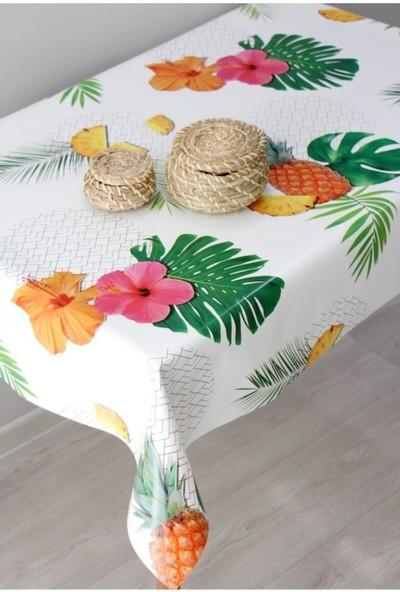 Dede Ev Tekstil Astarlı Silinebilir Pvc Muşamba Masa Örtüsü - 8097-1Y