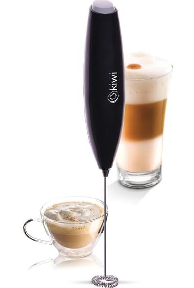 Kiwi Kcm 7501 Pilli Mini Mixer Kahve Süt Köpürtücü Karıştırıcı Siyah