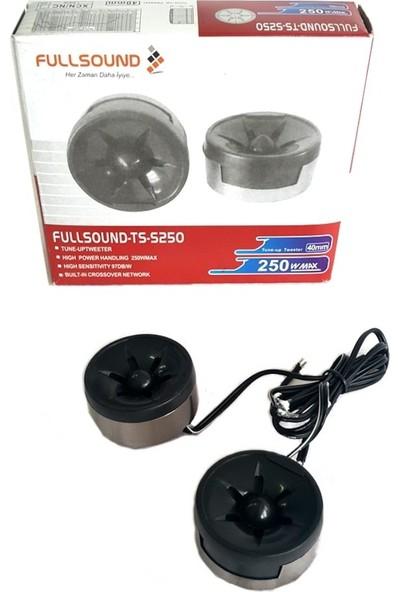 Fullsound TS-S250 Tweeter Tiz Engelleyici 40MM 250 Watt Tiz Hoparlör 2 Adet