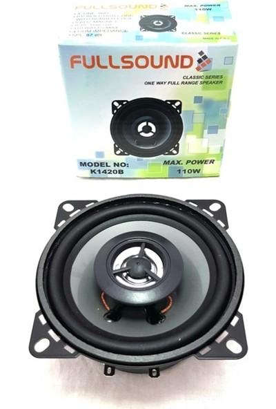 Fullsound 1420B 10 cm Max 110 Watt Oto Hoparlör Tweeter'lı 1 Adet