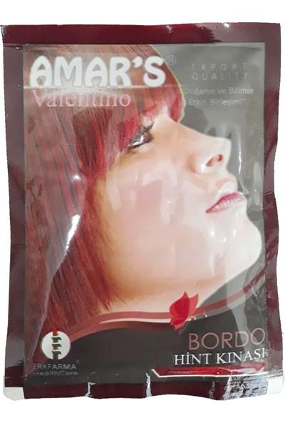 Amars Hint Kınası - Bordo 10 gr