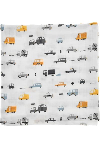 Bone Dea Cars Müslin Battaniye - 75 x 100 cm