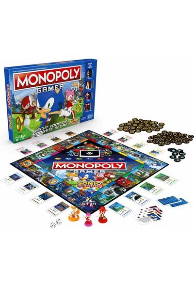 Hasbro Gaming Monopoly Gamer Sonic The Hedgehog Temalı Kutu Oyunu (İngilizce)